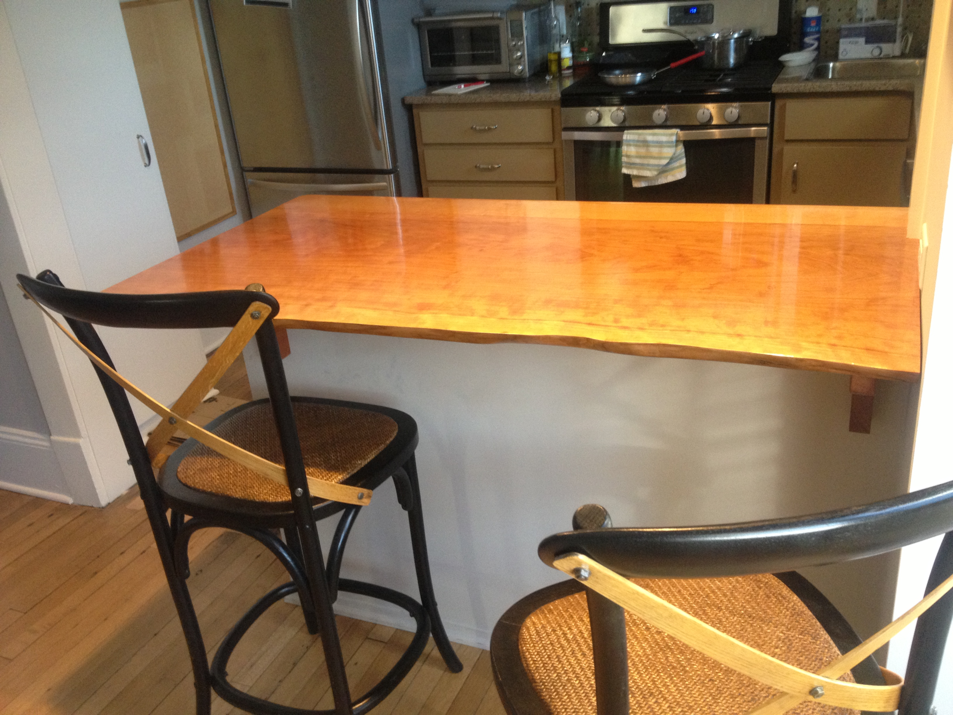 cherry slab counter top