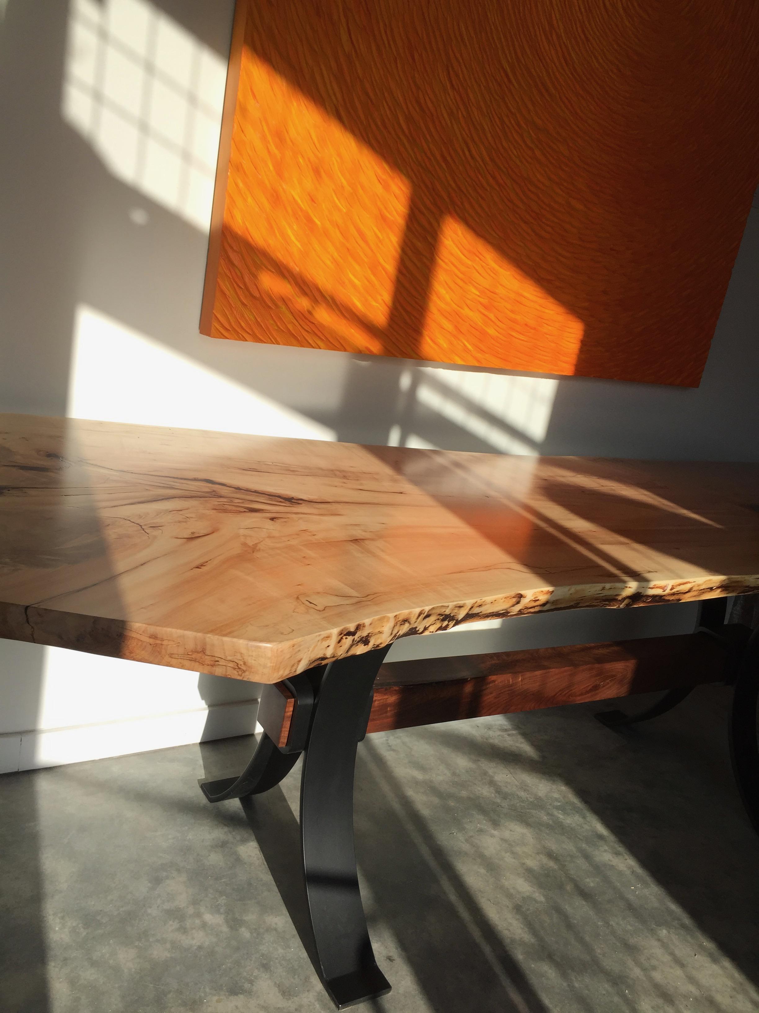 slab trestle table